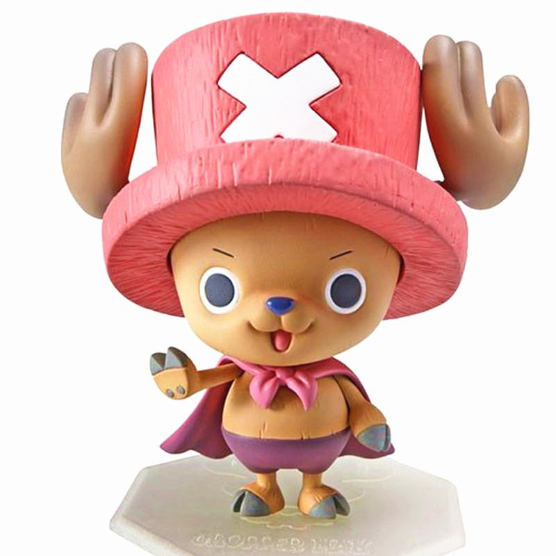 Funko POP One Piece Superman Tony Chopper Plating Cherry Pink Hat Action Figure Japan Anime Kids Toy 10cm #E