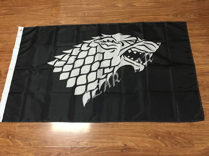 Game Of Thrones Stark Banner Flag 3' x 5' 100D polyester quality