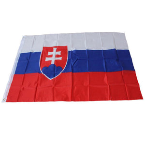 Happy 90 x150cm Slovakia National Flag Polyester 3 ft. x 5 ft. Polyester Fabrics