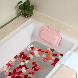 Household Comfortable Colorful Bathroom Supplies Bathtub Pillows Headrest Waterproof Bath Pillows 31x21cm