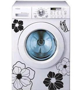 Household Washing Machine Refrigerator Stickers Flowers Butterflies Wall Stickers Home Decor For Kitchen Bathroom