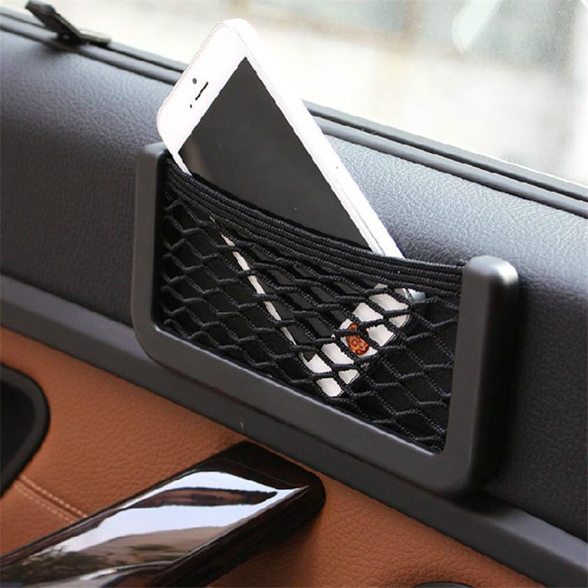 Car Universal Resilient Seat Storage Net Bag Holder Pocket Organizer