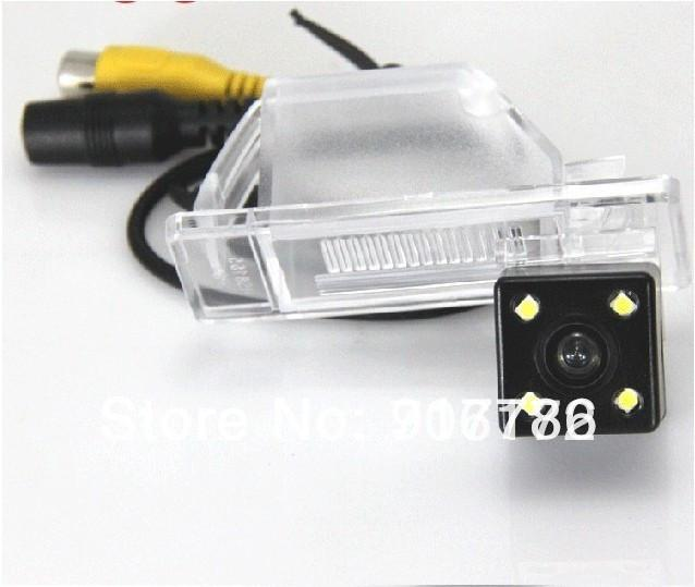 Highest nightvision 4 LED HD CCD Car Reverse Rear View backup Camera parking rearview For NISSAN QASHQAI X-TRAIL Geniss C-QUATRE