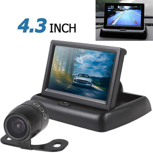Car Monitor Mirror 4.3 Inch 2-channel Input Car Rear View Monitor + Waterproof 420 TVL 18mm Lens Reverse Parking Camera