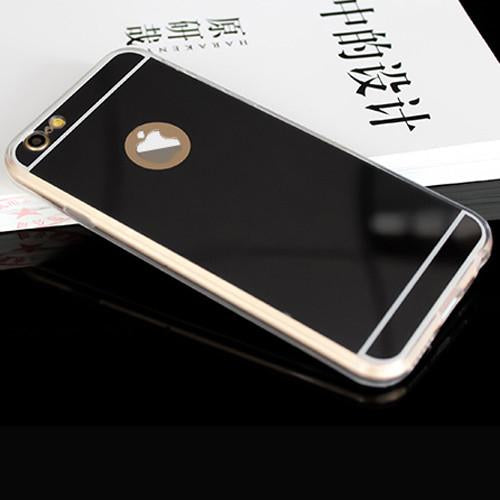Luxury Mirror Soft Clear TPU Cases For iphone 6 6S 7 4.7 inch 6 7 Plus 5.5 inch 5 5s SE Back Cover