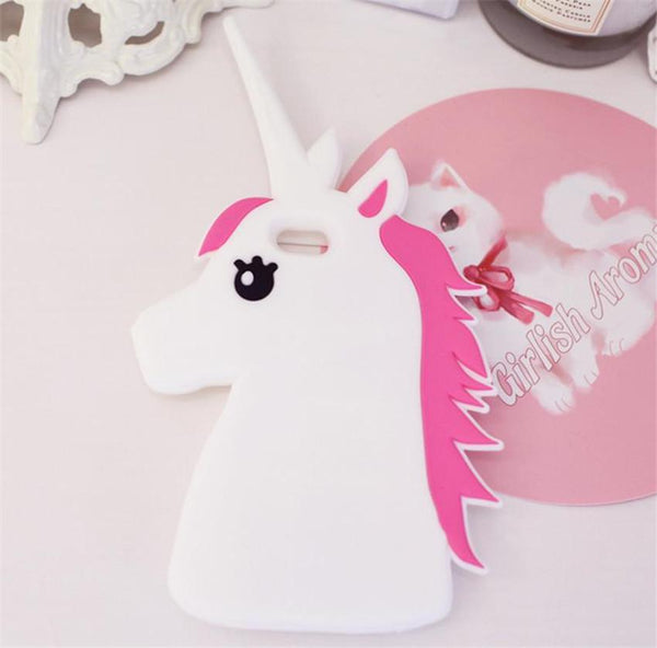 Fantastic Cartoon Unicorn Horse Soft Silicone Phone Cases Cover For iPhone 7 7Plus 4 4G 4S 5 5G 5S SE 5C 6 6G 6S 6Plus