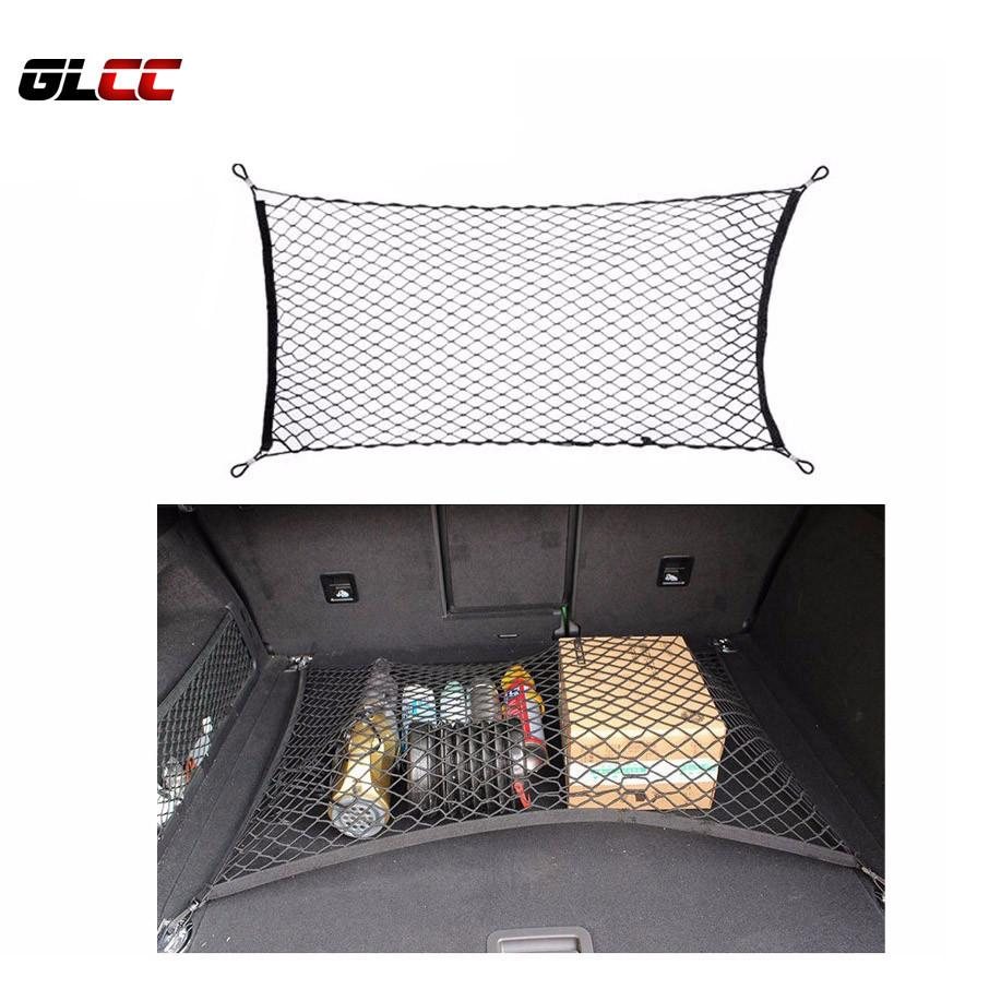 Black 120*60 CM Car Trunk Luggage Storage Net Bag Nylon Elastic Cargo Holder Mesh Pocket