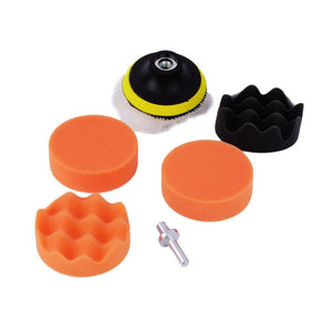 Worldwide 7pcs set 3 inch Buffing Pad Auto Car Polishing sponge Wheel Kit With M10 Drill Adapter Buffer ~