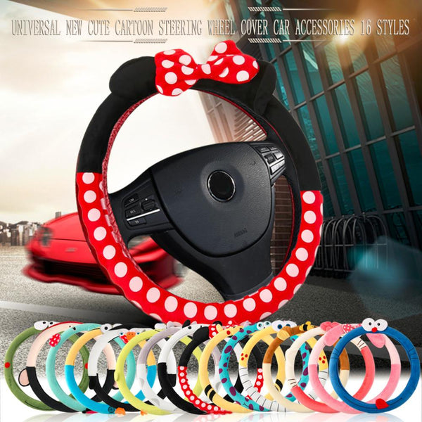 HSC Car Styling Car Steering Wheel Cover cute Cartoon Universal Interior Accessories Set Women man 16designs car covers