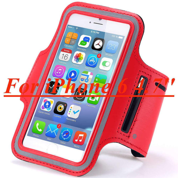 I6 6s Waterproof Running Arm Band Leather Case For Iphone 6 6s 4.7 Mobile Phone Holder Pouch Belt Gym Cover For Iphone 6 6s Plus