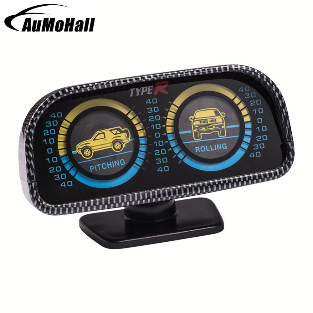 Inclinometer Compass Car Accessories Inclination Tool Level Wave Instrument With Lights