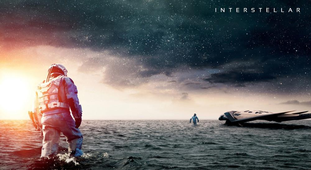 "Interstellar 2014 Movie Fabric poster 43"" x 24"" 24"" x 13""-010"