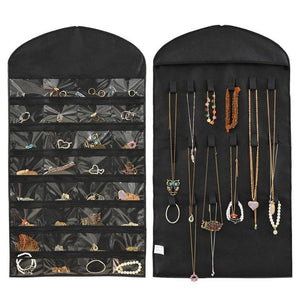 LASPERAL Hanging Jewelry Storage Bags Sundries Organizer For Home Necklace Bracelet Earrings Display Multifunctional 42x83cm 1PC