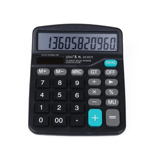 Lcd 12 Digit Screen Slim Credit Card Solar Power Pocket Calculator Novelty Small Travel Compact