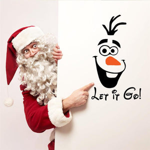 let it go wall stickers quotes home decor 355. 3D Olaf diy cartoon kid playroom vinyl wall decals mural art poster 5.0