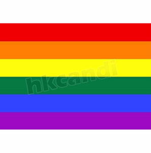 Lgbt 90cm x 60cm Rainbow Flag 3*2 FT Polyester standard Flag Gay Pride Peace Flags Outdoor Indoor