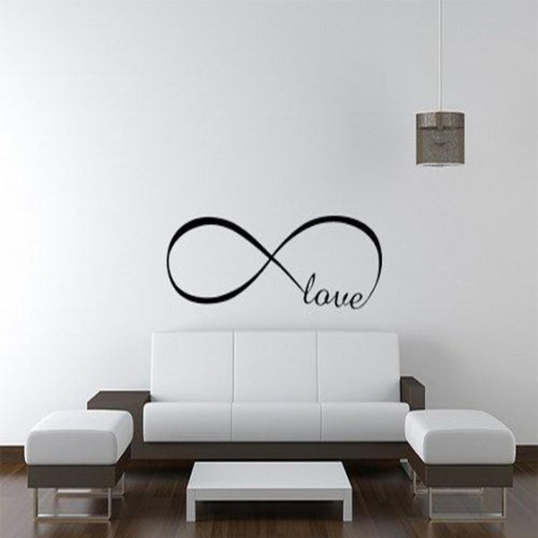 Love Art Wall Stickers 2016 Infinite Vinyl Home Wall Decals Letters Decor Size S M