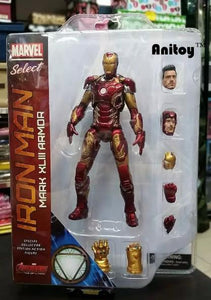 "Marvel Select Iron Man MK43 Mark XLIII Armor PVC Action Figure Collectible Model Toy 7"" 18cm KT067"