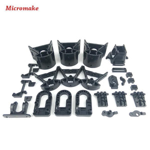 Micromake Kossel Delta 3d Printer Accessories Plastic Injection Parts Whole Set Of Injection Nonstandard Parts