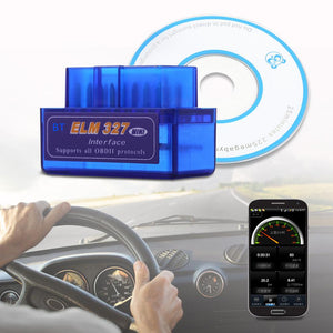 Mini Auto Scanner Bluetooth OBD2 For Android Torque OBDII ELM327 Code Readers Diagnostic-tool Vehicles Car Scan tool