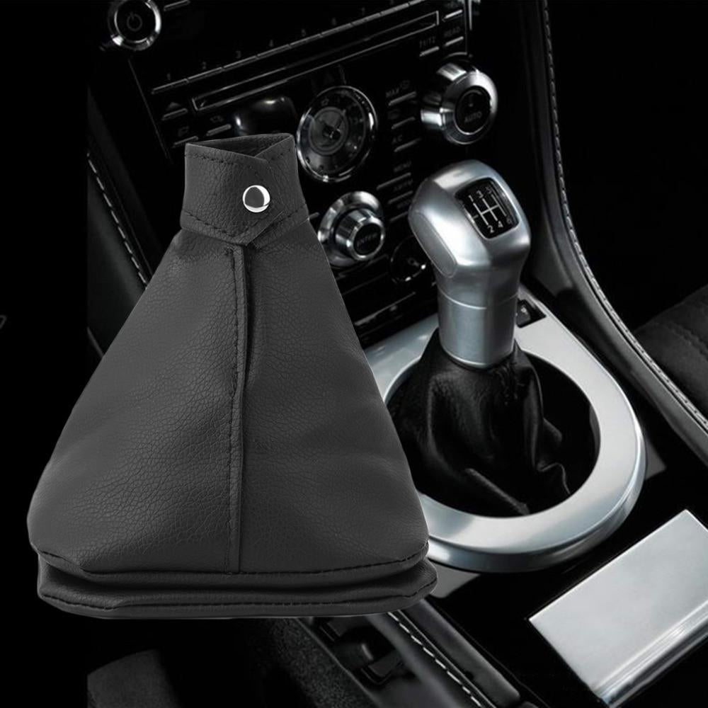 Mini Pu Leather Rubber Gear Shift Collar Cover Shift Gear Lever Gaitor Boot Replacement For Ford for universal car