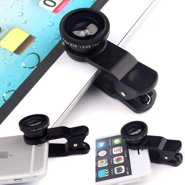 Mobile Phone Accessories Cases&Bags 3 in 1 Fish Eye Wide Angle Macro Fisheye Lens For iPhone 6 5 5S Samsung HTC Xiaomi