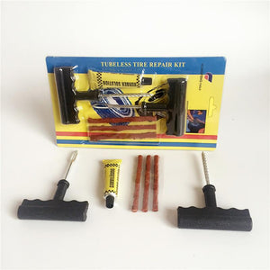 Motorcycle Car Tubeless Tire Puncture Repair Tool Kit Tire Plug Auto 3 Strips 1 Set Auto Car Tire Repair Bike Tubeless Tyre