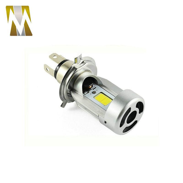 Motorcycle LED Headlight H4 Hi Lo Lamp 20W*2 2000LM*2 HS1 COB Moped Scooter Motorbike Headlamp 6000K White Halogen Replacement