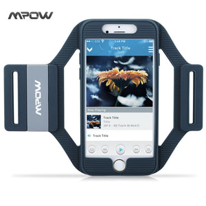 Mpow MSA5 for iPhone 7 6s 6 Armband Sports Running Workout Silicone Arm band Case Cover w Extension Straps for iPhone 7 6s 6