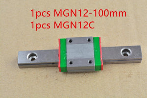 Mr12 12mm Linear Rail Guide Mgn12 100mm With Mgn12c Or Mgn12h Slider Block Bearing Linear Guide 1pcs
