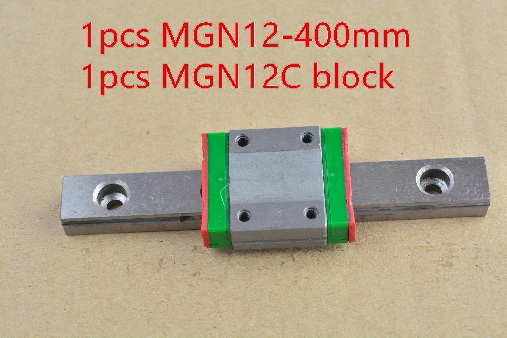 Mr12 12mm Linear Rail Guide Mgn12 400mm With Mgn12c Or Mgn12h Slider Block Bearing Linear Guide 1pcs