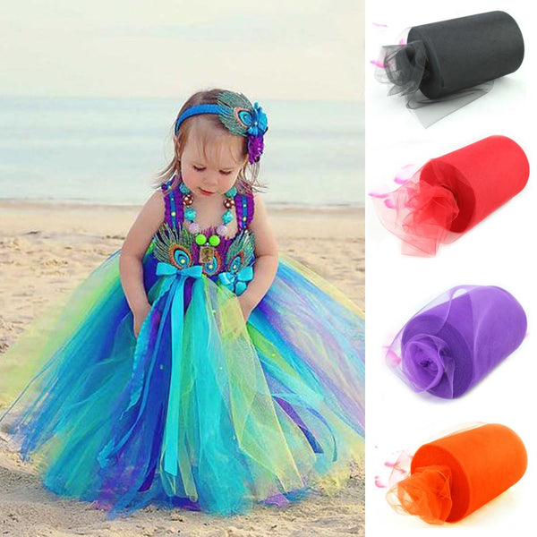 Multi Color Decorations Tulle Roll Spool 6inch x100yd Tutu Wedding Craft Party Tutu Bow Craft Vivid Tulle Roll Spool DIY