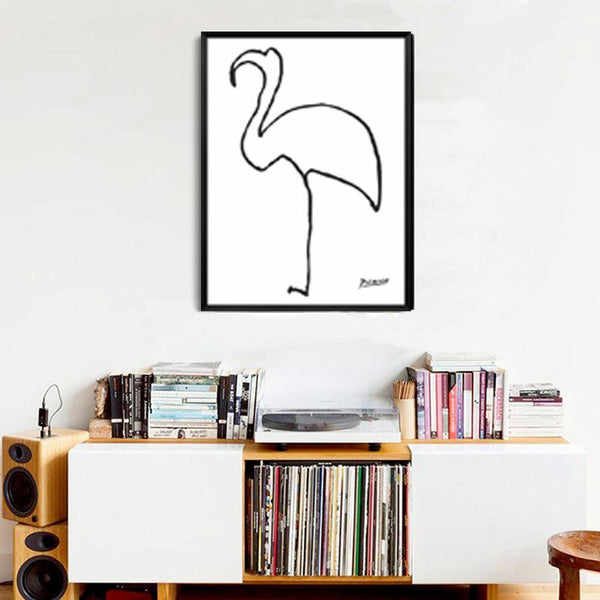 N Le Flamand Rose Print modern abstract oil painting Animals Minimalist Wall Art paintings for living room wall