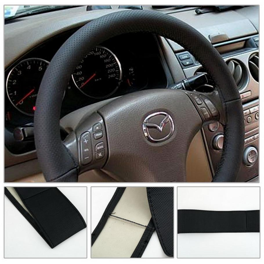 1pcs DIY PU leather Car Steering Wheel Cover case With Needles and Thread
