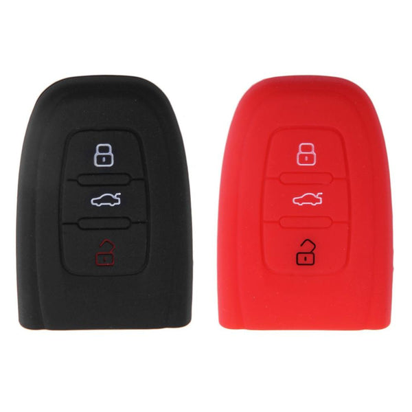 3 Button Silicon Key Folding Cover Fob Shell Holder For Smart Audi A3 A4 A6 A8 TT Protector Car Key Case Bag