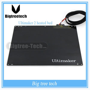 3d Printer Accessories Diy Ultimaker 2 Um2 Bed Aluminum Alloy Um2 Heated Bed Plate With Pt001 And Cable 3d0042