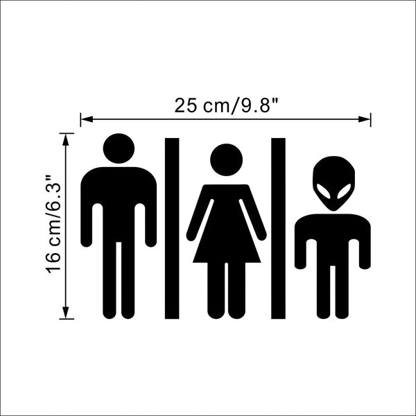 Funny Alien Toilet Sign Diy Door Sticker Decal 356 Bathroom Door Sign