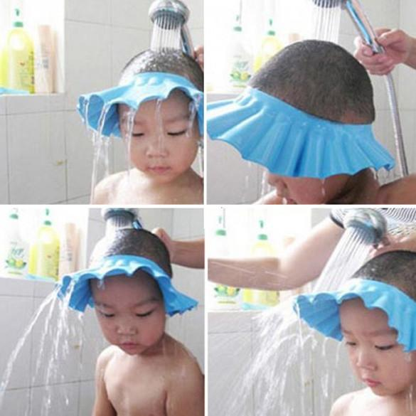 Adjustable Baby Hat Toddler Kids Shampoo Bath Bathing Shower Cap Wash Hair Shield Direct Caps For Children Care E2shopping