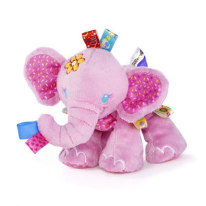 Animal Taggies Elephant dog Soft Stuffed Plush Crib Bed Hanging Hand Rattles Baby Toys Girl Boy Dolls
