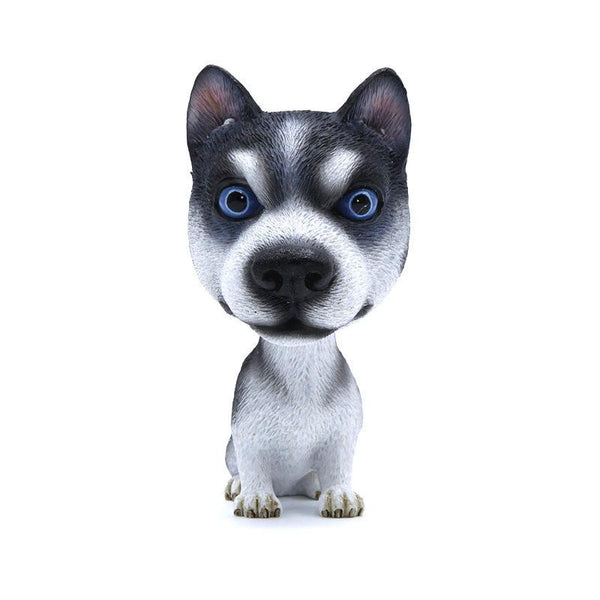 Car Styling Resin Cute Dog Doll Husky Doll Car Nodding Dog Shake head Decoration Bobblehead Dog For Car Furnishing Articles