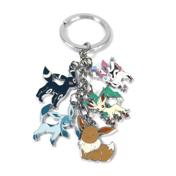 cartoon action figure toys Mini Cute Cartoon Pikachu Bulbasaur Eevee Mega Charizard Keychain Keyring Pendant Collect