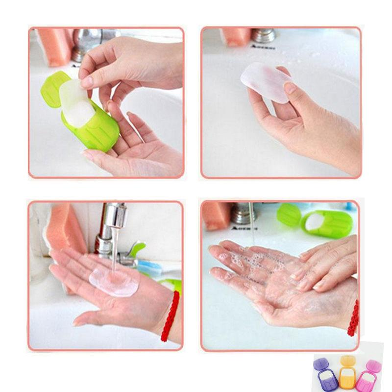 Creative Portable Paper Soap Washing Hand Bath Slice Sheets Scented Foaming