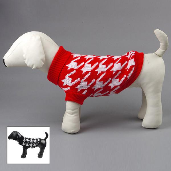 Dogs Cat Pet Sweater Soft Cozy Warm Knit Coat Apparel Clothes Small to Large H1