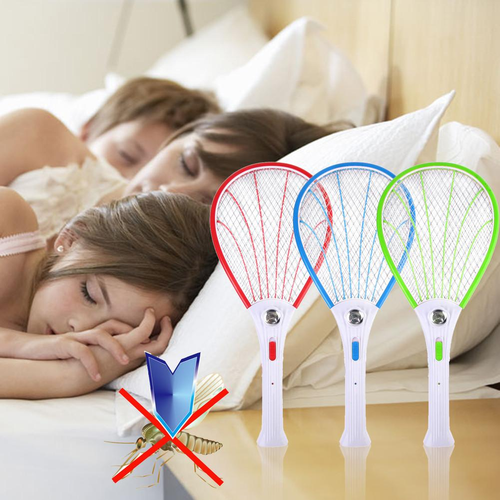 Electronic Swatter Mosquito Racket Fly Racket Handled Fly Racket Electric Bug Zappers Fly Mosquito Killer