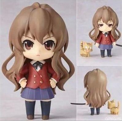 10cm Q version Toradora TIGER DRAGON Aisaka Taiga movable action figure toys collection christmas toy doll with box