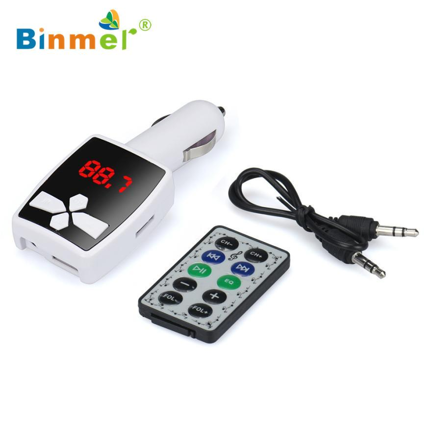 MP3 Player Wireless FM Transmitter Modulator Car Kit USB SD MMC LCD Remote TOP QUALITY DEC23