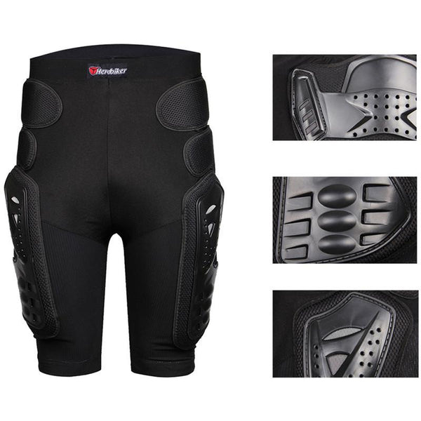 Moto Motorcross Racing Motorcycle Body Armor Protective Jacket+ Gears Short Pants+protective Motorcycle Knee Pad+gloves