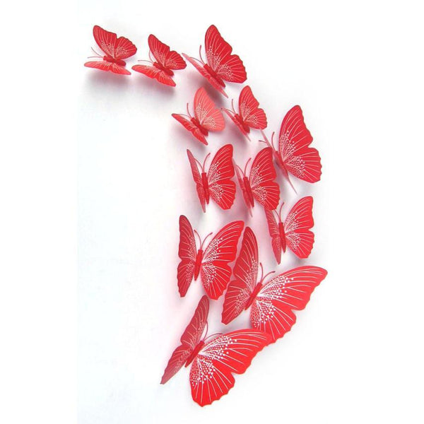 Qualified 12x 3D Butterfly Wall Sticker Fridge Magnet Room Decor Decal Applique Levert dig632