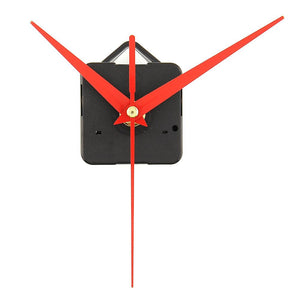 Quartz Clock Movement Mechanism Parts Replacing DIY Essential Tools Set with Red Hands Quiet Silent