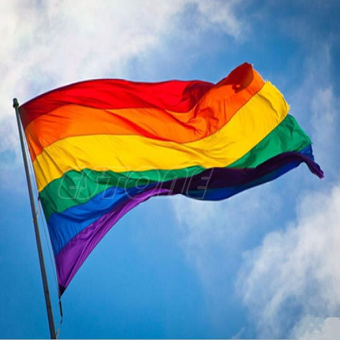 Rainbow Flag 3x5 FT Polyester Flag Gay Pride Peace Flags 90cm x 150cm HXP001